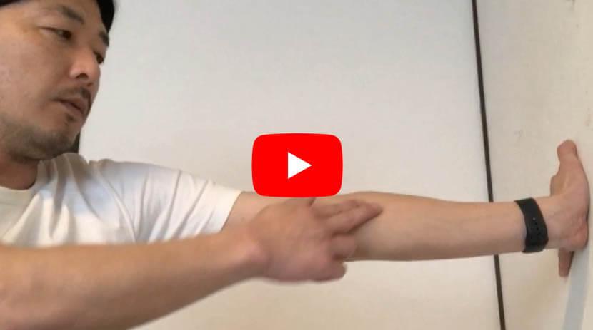(#74)前腕の屈曲筋群円回内筋、長掌筋、橈側手根屈筋に効果のあるストレッチ