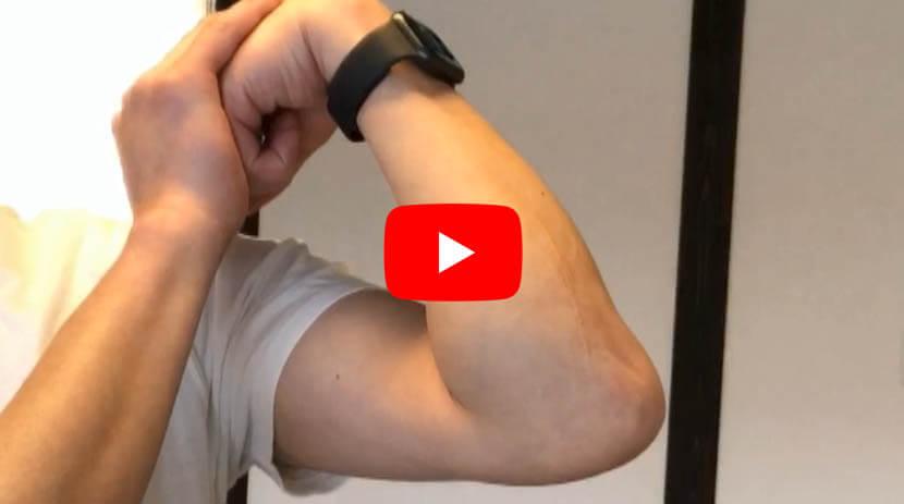 (#76)肘筋、円回内筋、長掌筋、橈側手根屈筋に効くストレッチ(1)