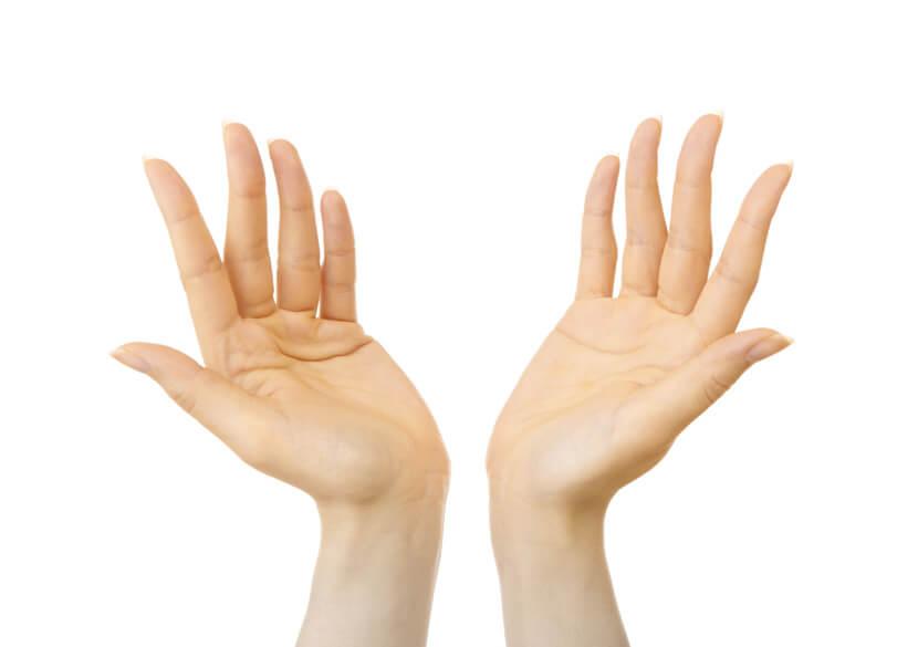 手や指、腕のケア
