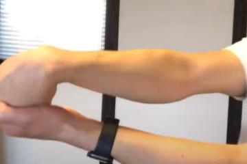 《回外筋ストレッチ方法》手首、腕の回外動作の柔軟性を高めるねじるケア
