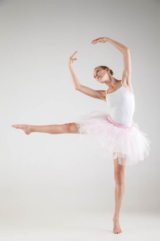 股関節が柔らかいバレエダンサー