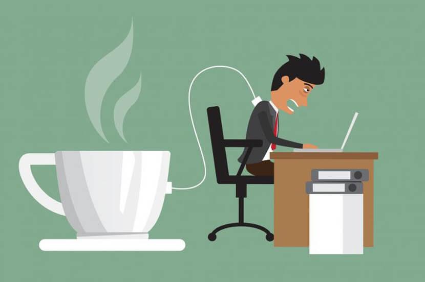 コーヒーを飲んで脳を覚醒し眠気改善